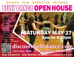 Like Warm Wonderful Sunshine? Belly Dance Open House May 27