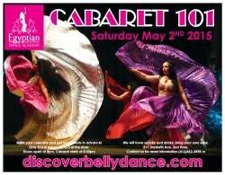 Cabaret 101 - Spring Belly Dance Bliss! Saturday May 2